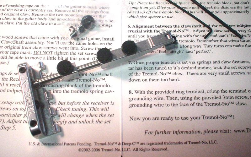 Ibanez rx160 tremolo u0026#39;harmonica tremolo chartu0026#39;